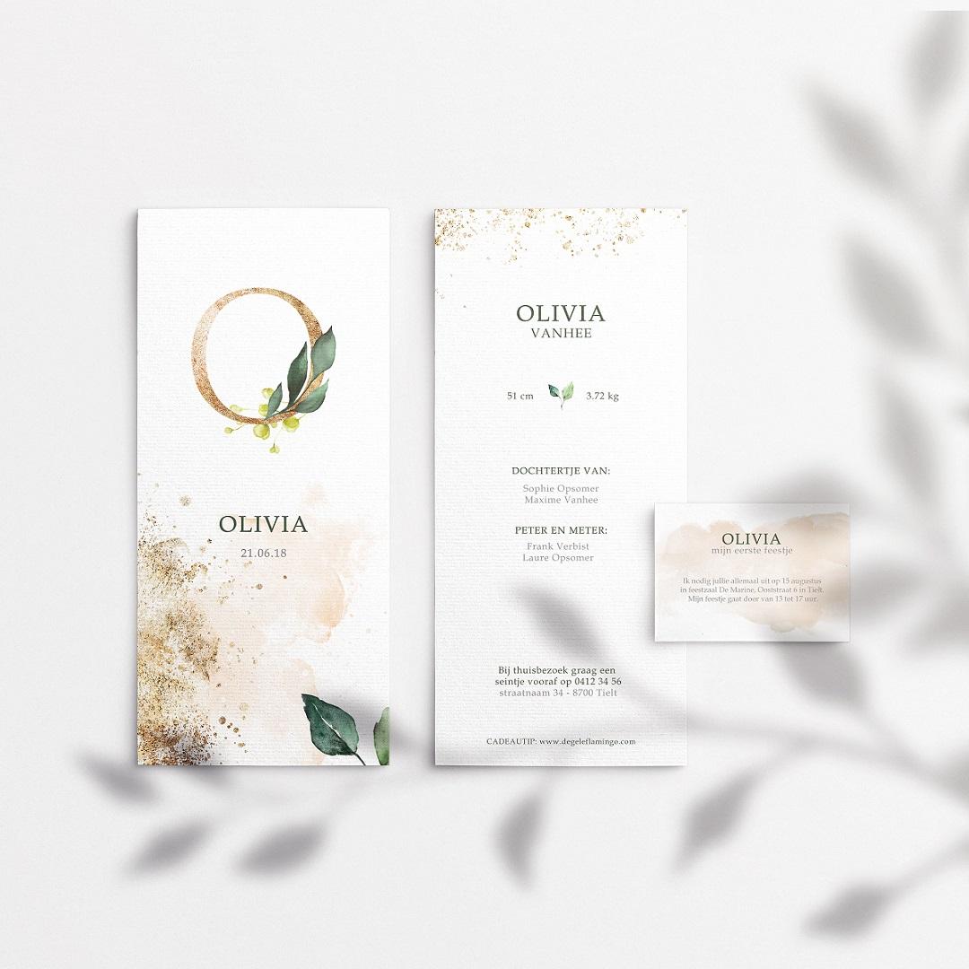 geboortekaartje olive origineel online bestellen uniek meisje