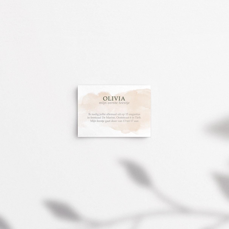 geboortekaartje olive origineel online bestellen uniek meisje begeleidend kaartje babyborrel uitnodiging